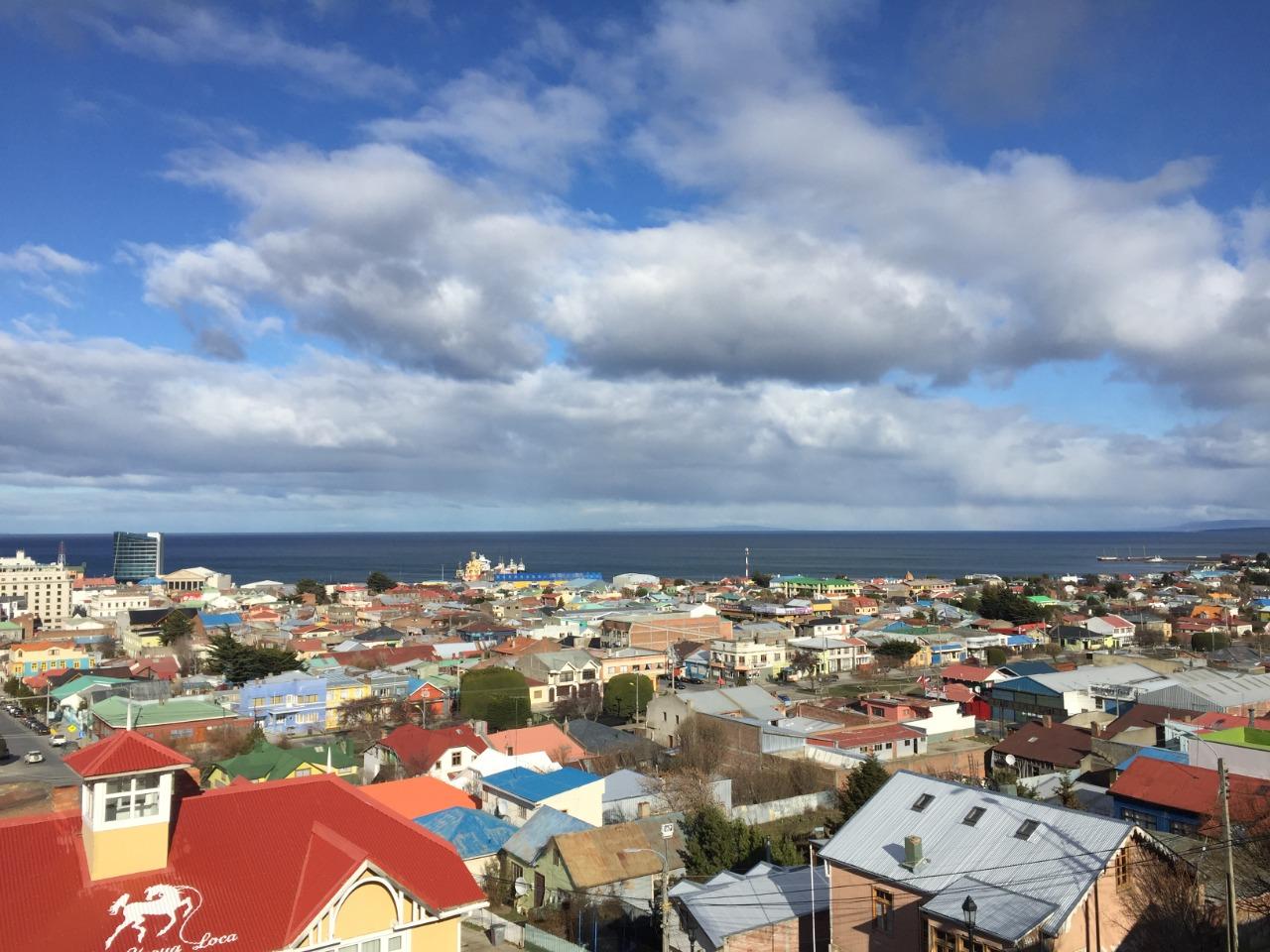 Ciudad de Punta Arenas desde mirador